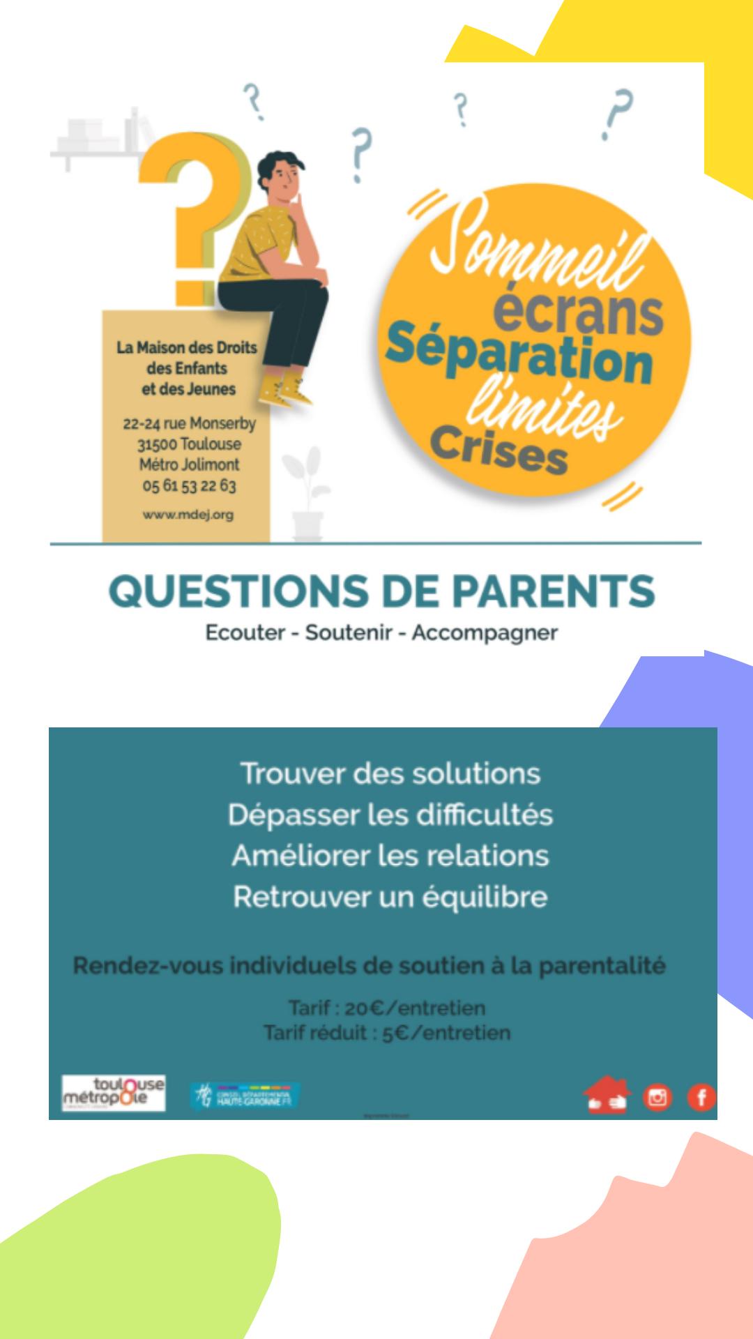 affiche de présentation de la maison des droits des enfants et des jeunes