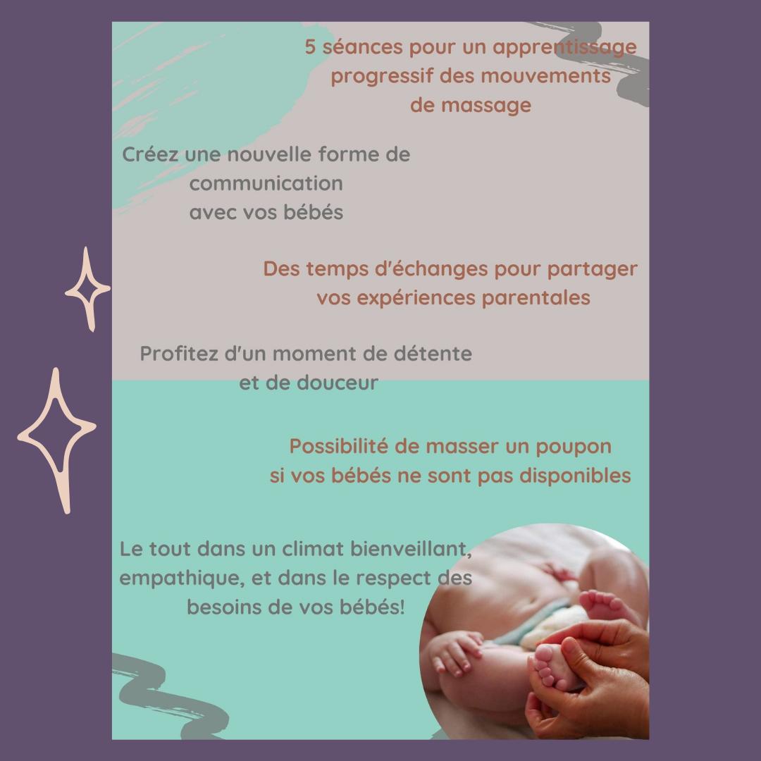 Programme massage bébé parent