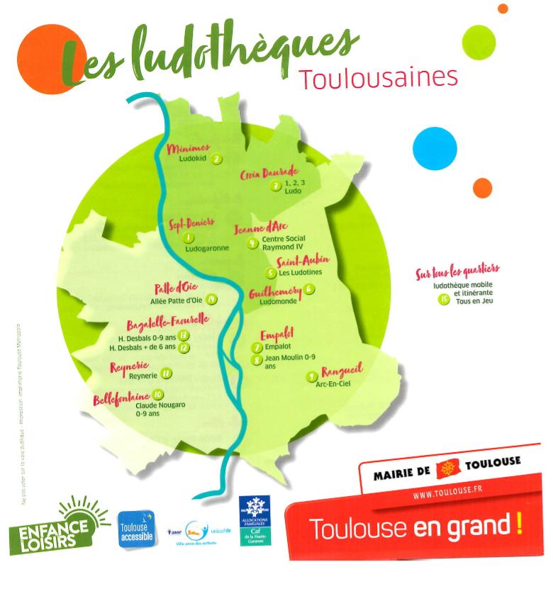 Les ludothèques de Toulouse