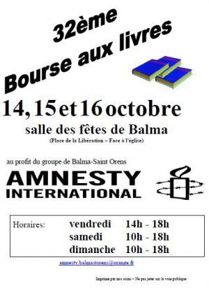Amnesty International Bourses aux livres BALMA