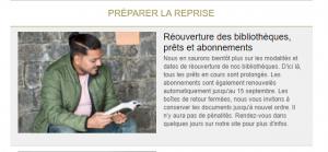 Reprise Bibliothèques de Toulouse