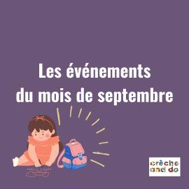Les évènements du mois de septembre
