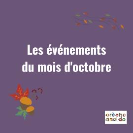 Les évènements du mois d'octobre