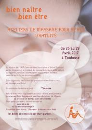 Ateliers de massages pour bébés Gratuits Bien naître Bien être