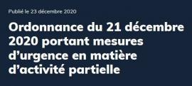 Prolongation Chômage partiel 2021