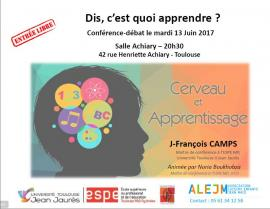 """Conférence """"Dis c'est quoi apprendre"""" Cerveau et apprentissage Toulouse"""