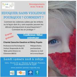 Conférence-Débat Eduquer sans violence Pourquoi? Comment?