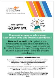 Facebook live : Comment enseigner à la maison à un enfant à des besoins spécifiques
