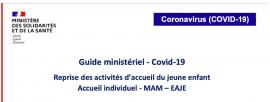 Guide Ministériel - COVID 19 : les consignes pour la reprise du 26 avril