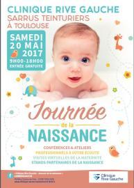 Journée de la naissance Clinique Sarrus Teinturiers rive gauche Toulouse