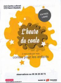 L'heure du conte Centre culturel Henri-Desbals