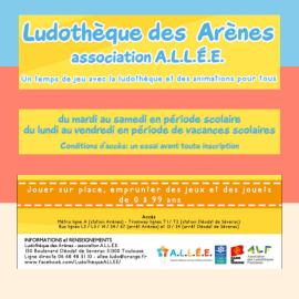 Ludothèque les Arènes - Association A.L.LE.E