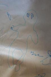 Dessin silhouette Garde d'enfants à domicile Association Crèche and Do Toulouse