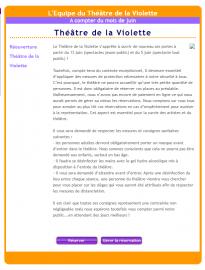 Réouverture Théâtre de la Violette