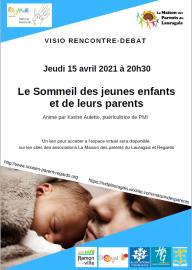 Soirée Visio Rencontre Débat sur le thème : Le sommeil des jeunes enfants et de leurs parents